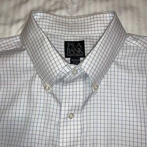Jos. A. Bank Button-Down Collar Grid Dress Shirt